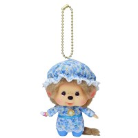 Monchhichi Big Head Keychain Mascot Charm Baby Nightgown 292570
