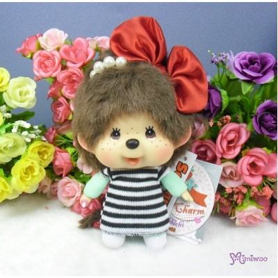 Sekiguchi Monchhichi Big Head Plush Marine Key Chain Mascot 293890