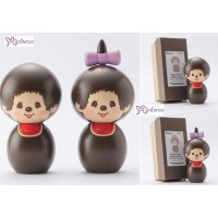 Monchhichi Kokeshi Japan Hand Made Craft Wooden Doll (PAIR) 444476+444483