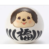 Monchhichi Kokeshi Japan Hand Made Craft Wooden Doll  Daruma White 445572