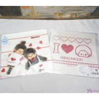 Monchhichi 2-Side Print Baby Handkerchief L Size Style F (Made in Japan) 475971