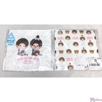 Monchhichi 2-Side Print Baby Handkerchief M Size 45th Anniversary Happy Trip 478491