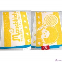 Sport Monchhichi 100% Cotton Beach Bath 100 x 34cm Big Towel Yellow ~ Made in Japan ~ 700335