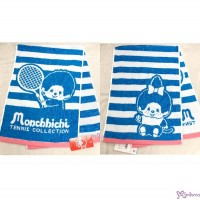 Sport Monchhichi 100% Cotton Beach Bath 100 x 34cm Big Towel Blue ~ Made in Japan ~ 700359