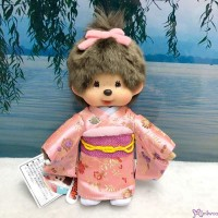 787560 Monchhichi S Size Plush Japanese Kimono Pink Girl ~~ Japan Limited ~~