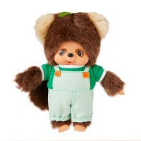 Monchhichi Friend S Size I Love Overall Tanu Tanu Raccoon (Japan Limited) 838622 ~ PRE-ORDER ~