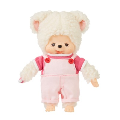 Monchhichi Friend S Size I Love Overall Sheep  (Japan Limited) 838639