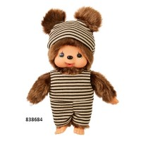 Monchhichi Friend S Size Border Swim Wear Kuma Bear (Japan Limited) 838684 ~ PRE-ORDER ~