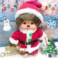 Monchhichi M Size Japan Limited 26cm Christmas X'Mas Santa Boy 838882 ~ LAST ONE ~