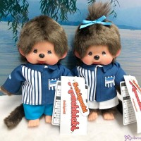 839377+839384  Lawson x Monchhichi S Size Plush Limited ~ Clothes Made in Japan ~