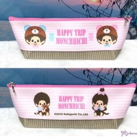 Monchhichi 45th Anniversary Happy Trip Pen Case Bag 20cm HandBag Pink 983531