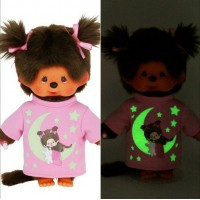 Monchhichi S Size Plush Glow in the Dark Tee Star & Moon Girl GIDG ~ PRE-ORDER ~
