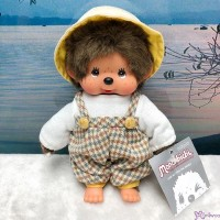 Monchhichi S Size Plush Farmer Fashion Jumper & Hat Boy MC013