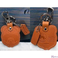 Monchhichi 45th Anniversary Happy Trip Leather Mascot Dark Brown MC025