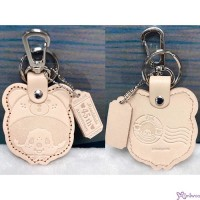 Monchhichi 45th Anniversary Happy Trip Leather Mascot Light Brown MC026