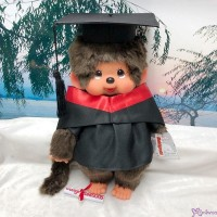 Monchhichi L Size Graduation Gown Red + Hat with 40cm MCC Boy MCG-RED