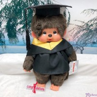 Monchhichi L Size Graduation Gown Yellow + Hat with 40cm MCC Boy MCG-YEW