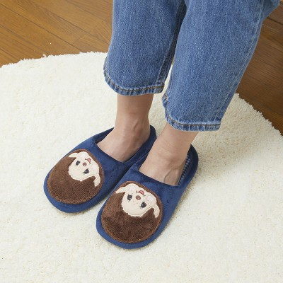 MS42720 Monchhichi Fashion 26cm Embroidery Slippers