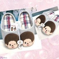 MS42858 Monchhichi Fashion 26cm Embroidery Slippers ~ NEW ARRIVAL ~~