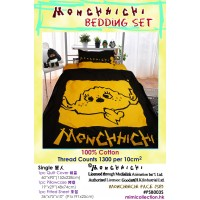 Monchhichi Bedding 100% Cotton Quilt Cover, Pillow Case and Fitted Sheet (Single) PSB003S