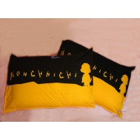 Monchhichi Bedding 100% Cotton Pillow Case Black (2pcs) PSC003BLK