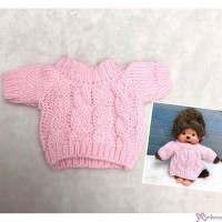 Mimi Collection Boutique Outfit Fashion Pink Knit Top fit Monchhichi S Size RX048