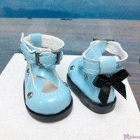 Yo SD OB Male 1/6 Bjd MCC S Size Doll Shoes Butterfly Bow Mary Jane BLUE YK09BLE