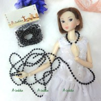 NDA017BLK Doll Dress DIY Craft Tiny Plastic Ball Chain 3mm Black