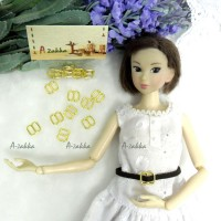 NDA050GLD Doll Dress DIY Crafts 8x8mm Metal Buckle Gold 10pcs