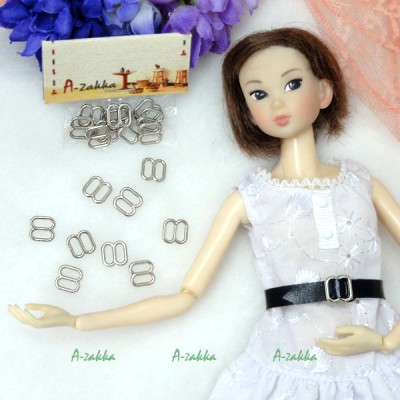 NDA050SLR Doll Dress DIY Crafts 8x8mm Metal Buckle Silver 10pcs