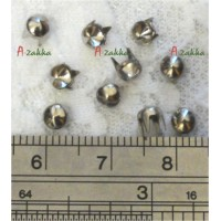 NDA056SLR Doll Dress Making Tools Mini Cone Rivet 4mm Silver