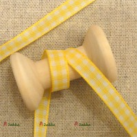 NDA066YEW DIY Crafts 6mm Checker Lave Trim Woven Tape Yellow