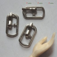 NDA110SLR 17mm x 9mm Metal Rectangle Belt Buckle Silver (3pcs)