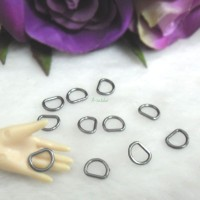 NDA136DGY 1/6 DIY Craft 6mm D-Ring Buckle Dark Grey (20pcs)