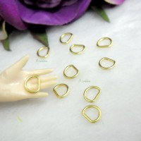 NDA136GLD Bjd DIY Material 6mm D-Ring Buckle Gold (20pcs)
