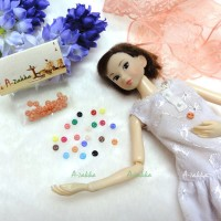 NDB001RAE Doll Custom Dress Tiny Button Round 4mm S Orange
