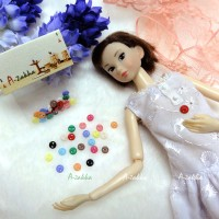 NDB002MIX Doll DIY Material Tiny Button Circular 5mm S Mix Color