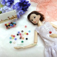 NDB005MIX Doll DIY Sewing Tiny Tool Button Star 6.5mm Mix Color