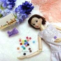 NDB006PUE Doll Dress DIY Sewing Tiny Button Square 5mm Purple