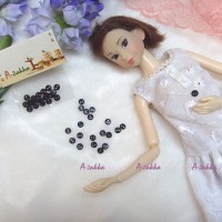 NDB009BLK DIY Craft High Quality Button Round 4mm Pearl Black