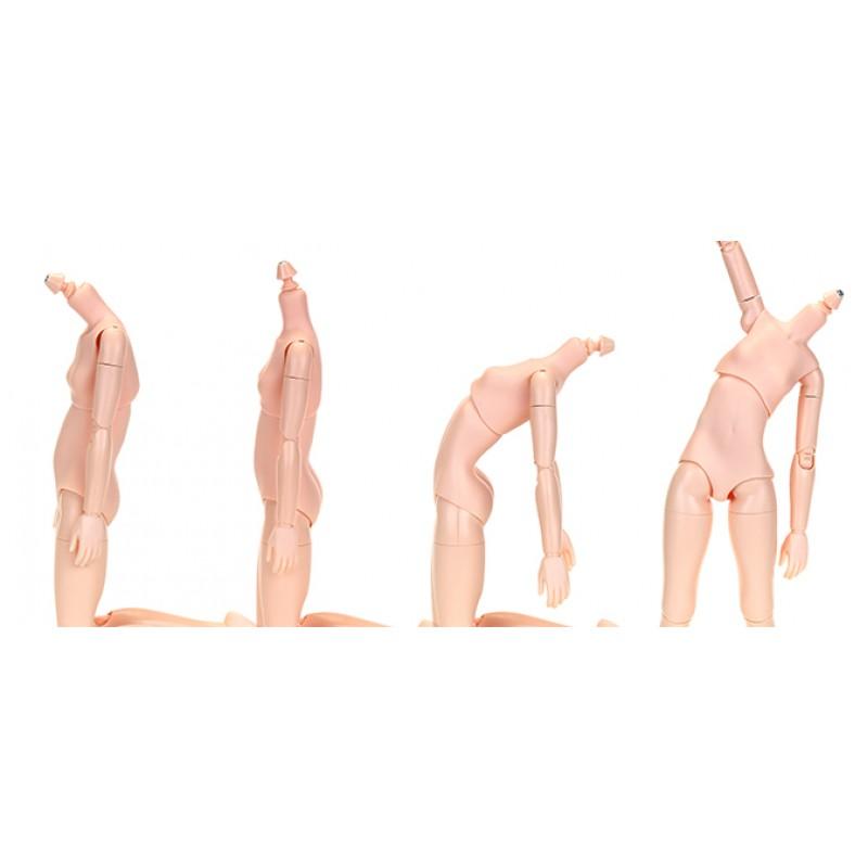 Obitsu 22cm Female Body 1//6 Bjd Figure Doll Soft Bust S Size White Skin