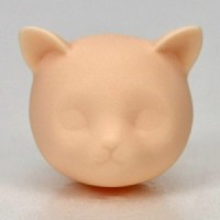 Obitsu 11cm Body 1/6 Doll Animal Neko Cat Head with Ear White Skin HD-PB-1106W