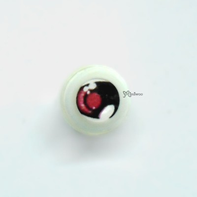 PAD08C06 1/6 bjd Acrylic Plastic Full Round Anime Eye 8mm Red