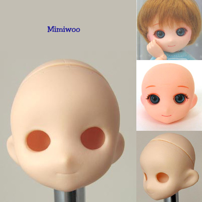 HD-PB-2302W Obitsu 1/6 Doll Muffin Head w Eye Holes - White