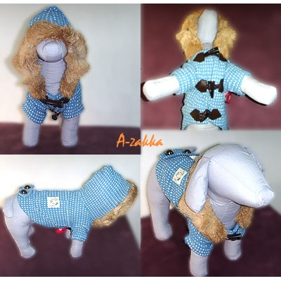 Pet Fashion -  Dog Apparel Duffle Coat Blue S Size NDD005BLE-S