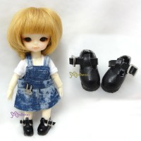Middie B 2.2cm Doll Shoes Maryjane Black SBB002BLK