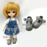 Middie B 2.2cm Doll Shoes Maryjane Grey SBB002GRY