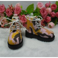 SHM077PNK MSD OB 60cm Doll bjd High Hill Shoes Camouflage Pink