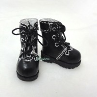 1/6 Bjd Neo B Doll Shoes Boots Black SHP002BLK
