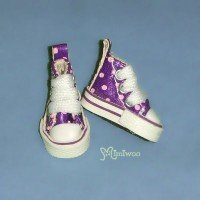 1/6 Bjd Neo B Doll Denim MICRO Shoes Dot Sneaker Purple SHP070PUE